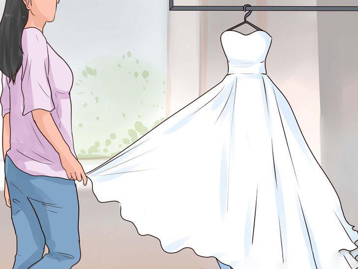 Как свадебное платье привести в порядок