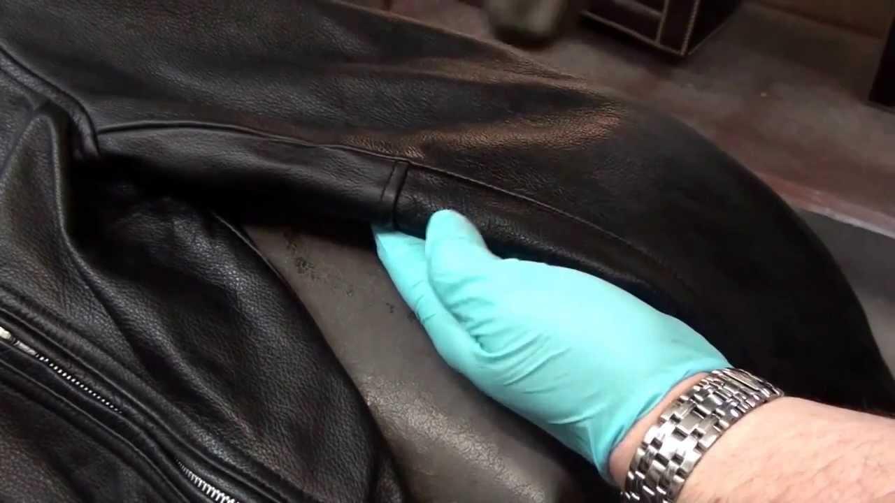 Как удалить пятно от масла с кожаной куртки фото